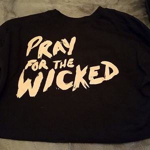 Black Cropped Panic @ the Disco hoodie